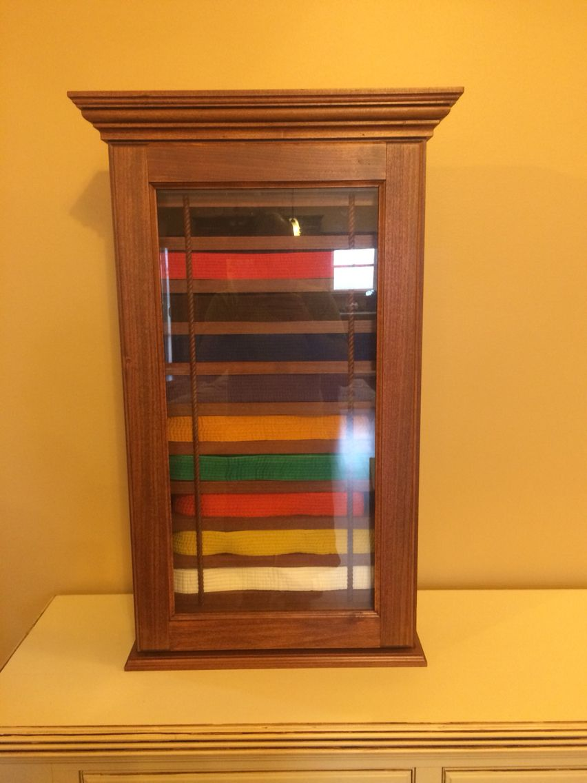Tae Kwon Do Belt Display Case Karate Belt Display Case