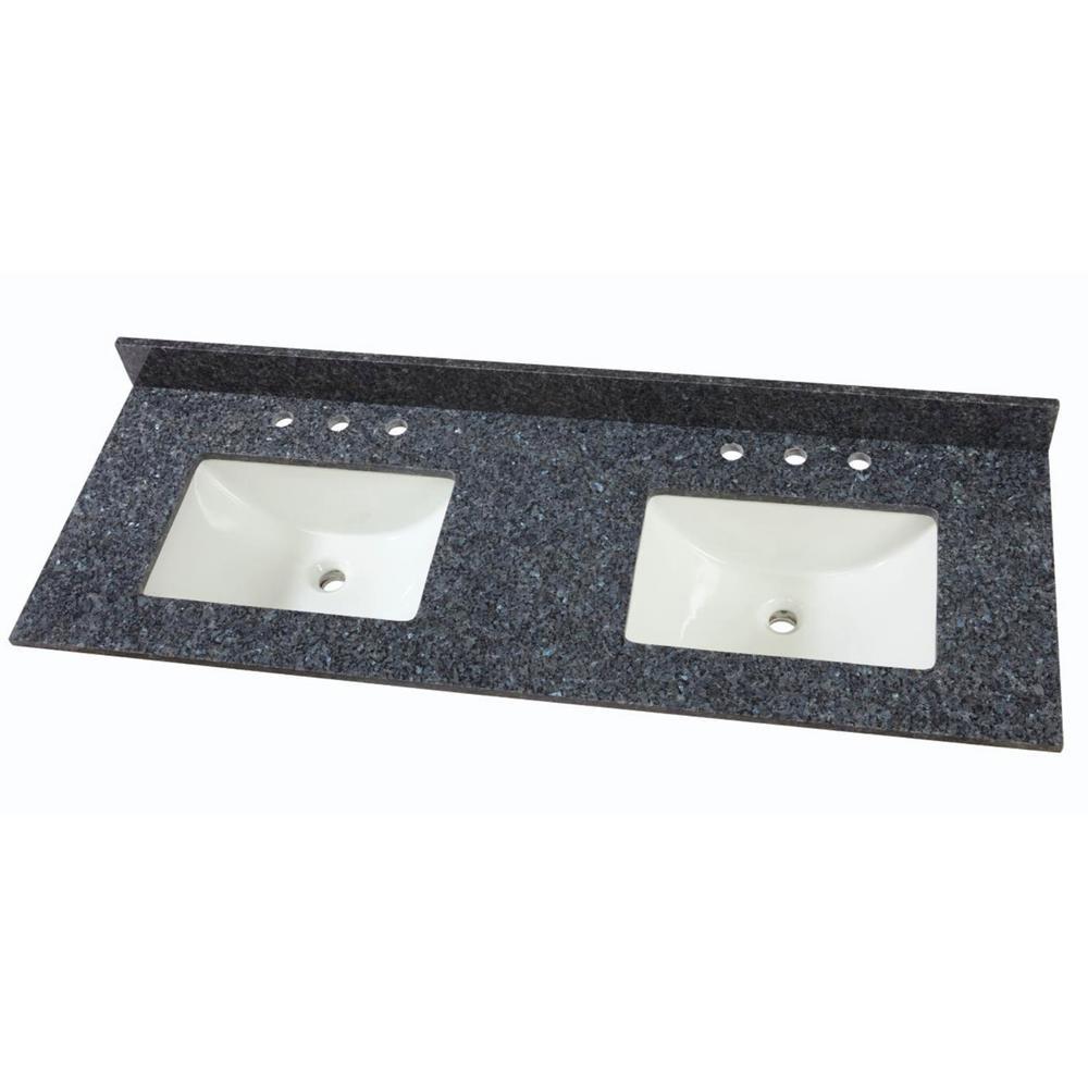 33+ 61 double sink vanity top model