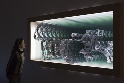 infinity illusion mirror. lee bul uses mirrors to give illusion of infinite depth infinity mirror