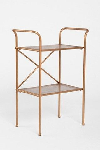 Urban Outfitters Tiered Metal Table Record Player Stand Record - Metal table with shelves