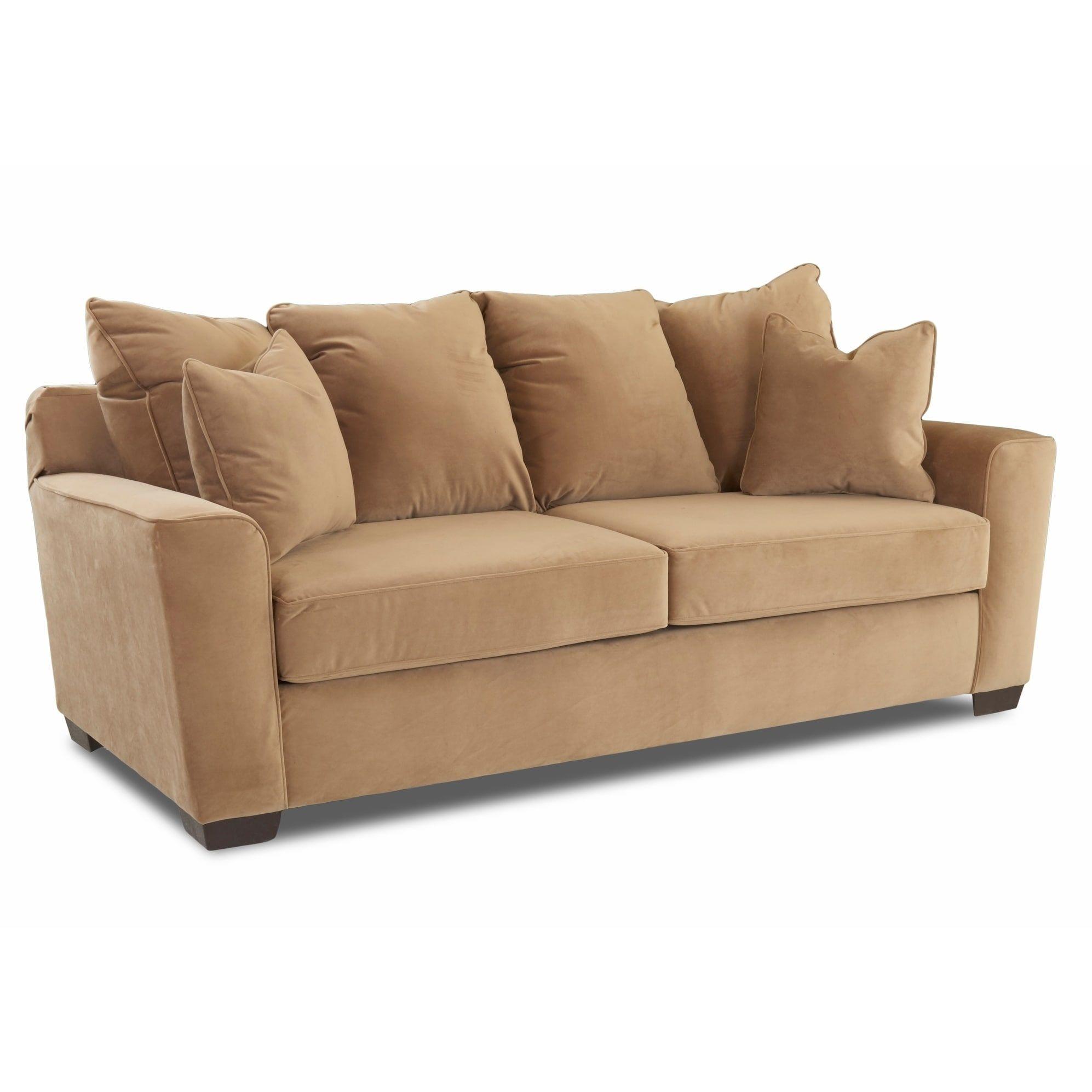 Klaussner Furniture Heather Microfiber Sofa (Coffee), Tan (Polyester)