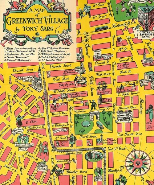 look at the lost landmarks of this 1934 map of the village