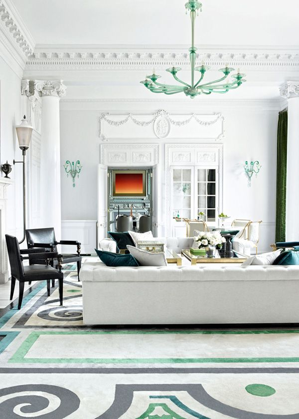 a venini chandelier takes center stage in the morning room of this incredible london mansion read on to see more interiors from the decadent home