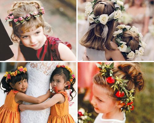 Pleasing 1000 Images About Flowergirl Hairstyles On Pinterest Flower Short Hairstyles For Black Women Fulllsitofus