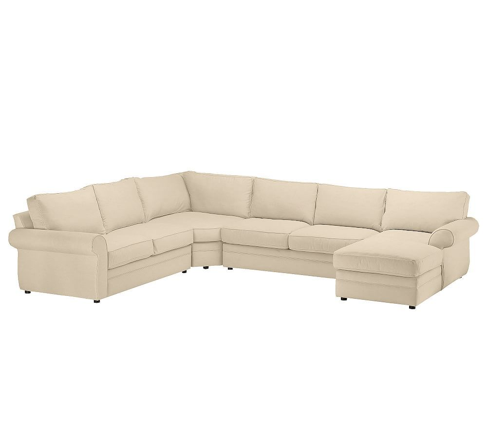 Pearce Upholstered Left Arm 4 Piece Wedge Sectional Down