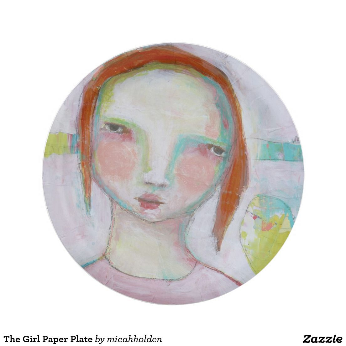 The Girl Paper Plate 7 Inch Paper Plate