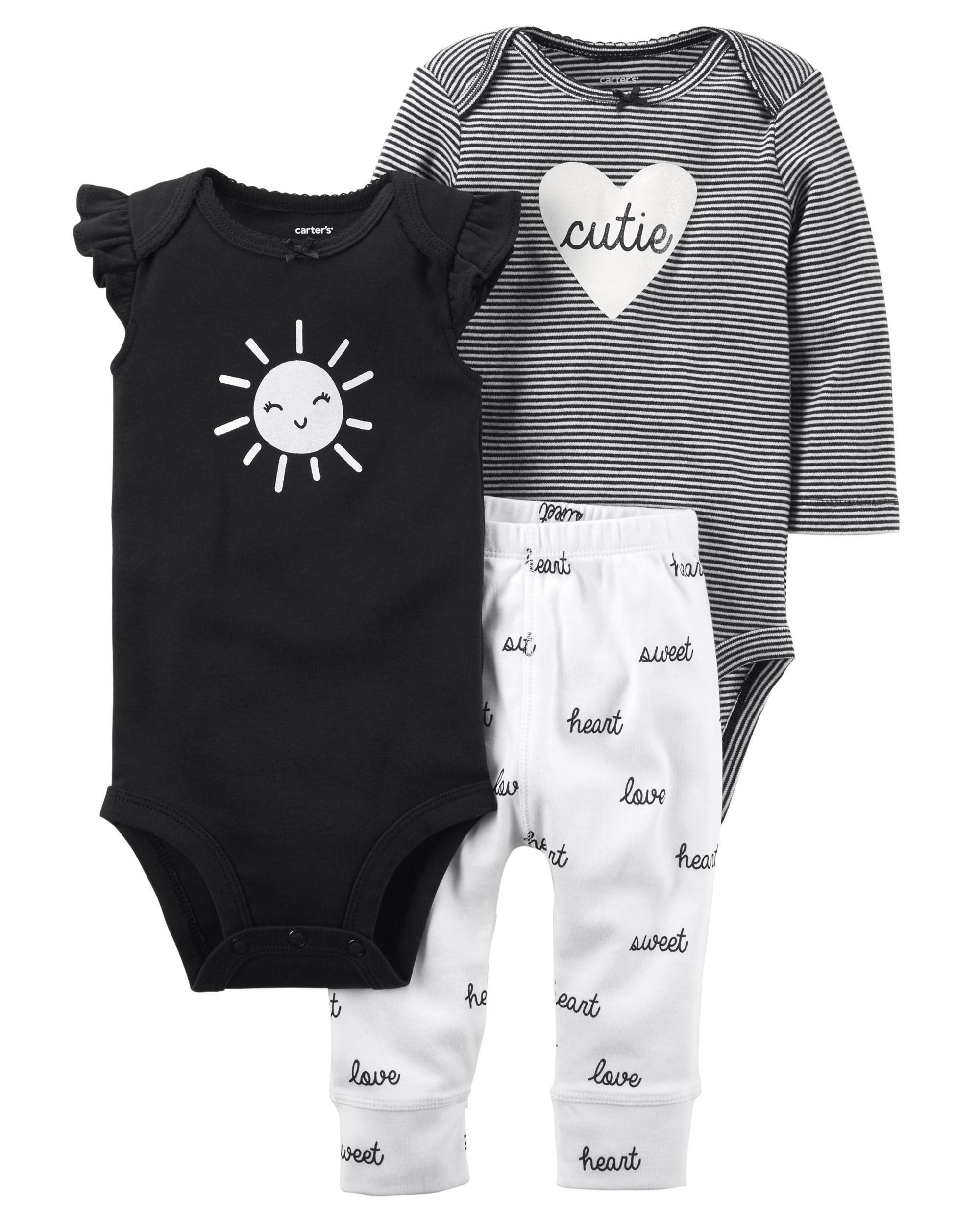 4c216946d 3-Piece Babysoft Bodysuit Pant Set
