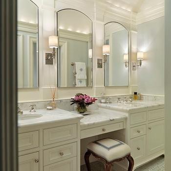 Built In Make Up Vanity Traditional Bathroom Jan