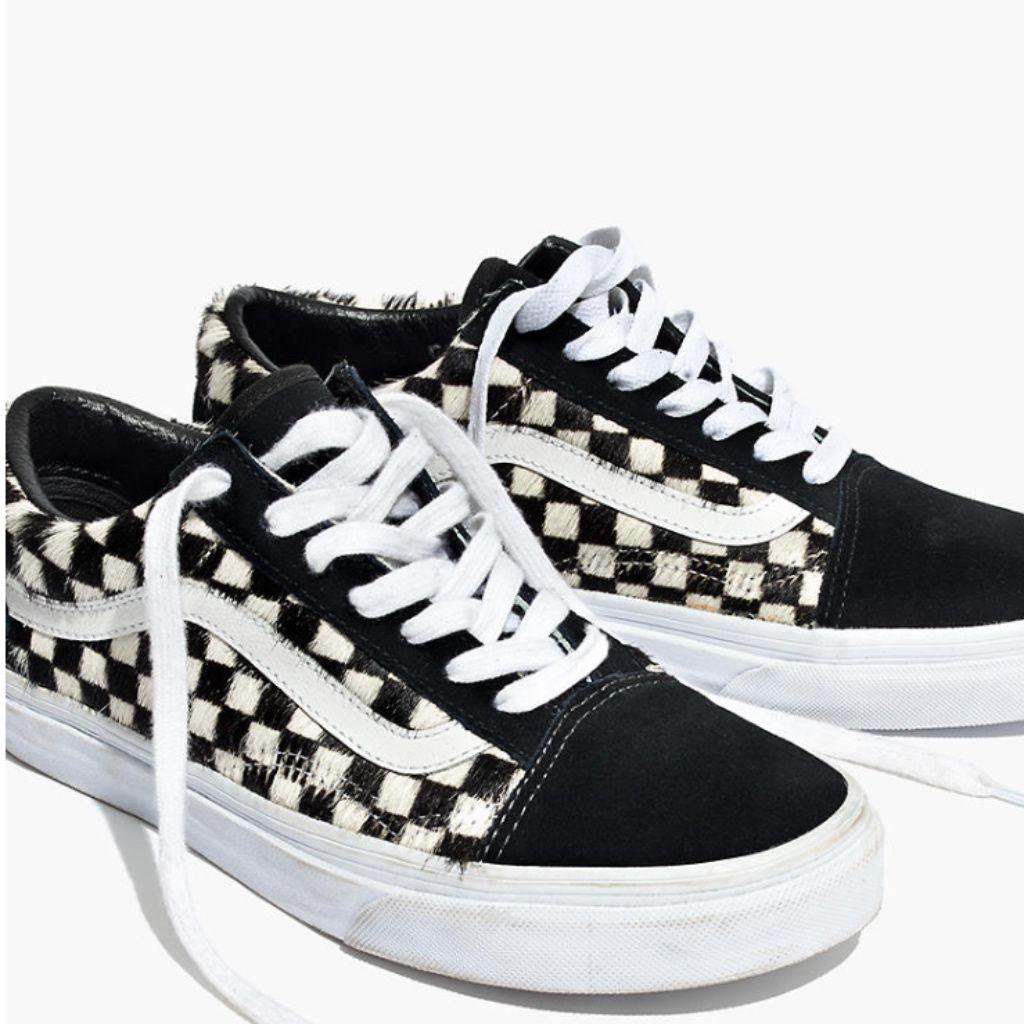 Vans Shoes | Vans X Madewell Old-Skool Checked Sneakers | Color ...