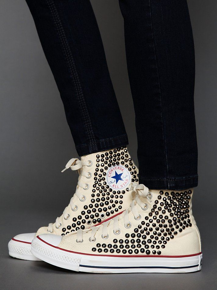 ser bra ut försäljning fri leverans Toppkvalité Buy cheap hi tops (sports direct or primark), then buy some studs ...