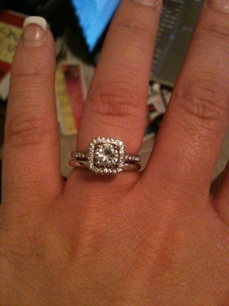 Engagement Ring Fits Inside Wedding Band 28 | Engagement Rings ...