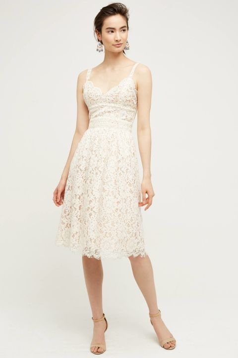 13 Little White Dresses That Ll Get You Through Summer S Hottest Days Little White Dresses Lace Dress Short Lace Dress