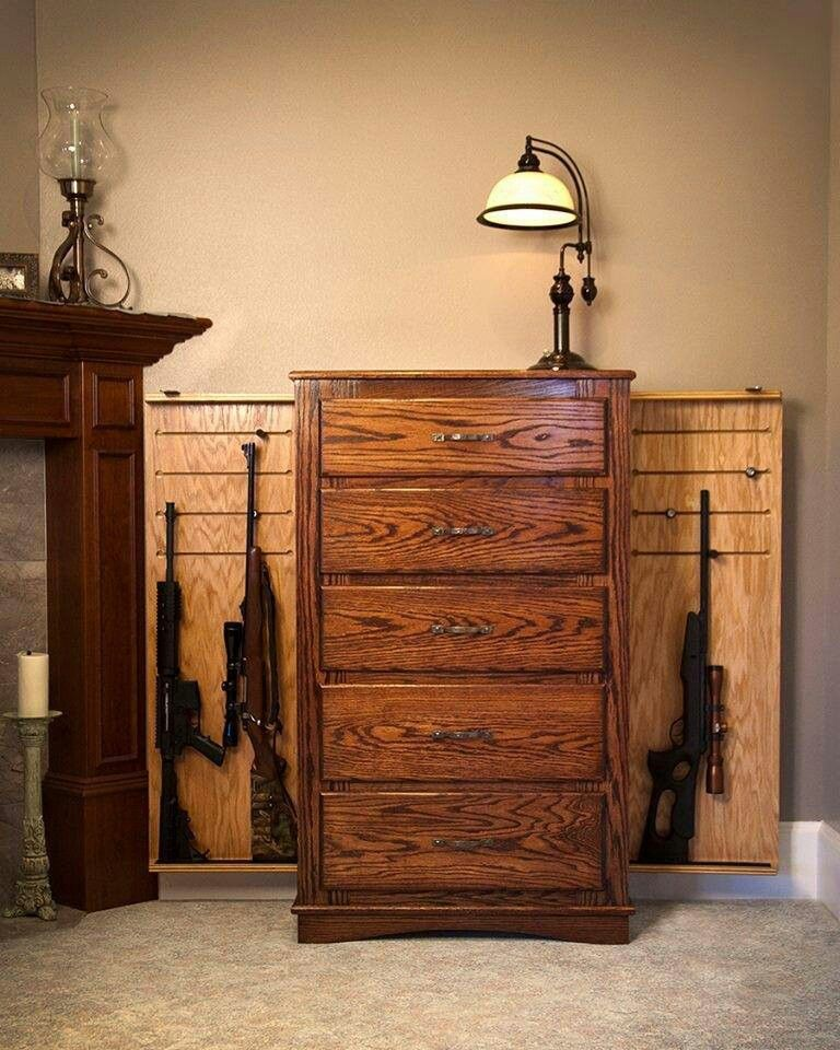 Dresser Gun Safe Guns Pinterest Dresser Guns And Gun Storage - Bedroom furniture with hidden compartments