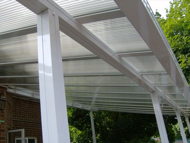 Clear Insulated Roof Over Open Space Bottom View Pergola With Roof Clear Roof Panels Aluminum Pergola