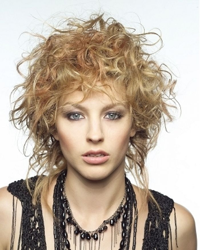 Shag Rumpled Cute Hairstyles For Curly Hair Short Curly