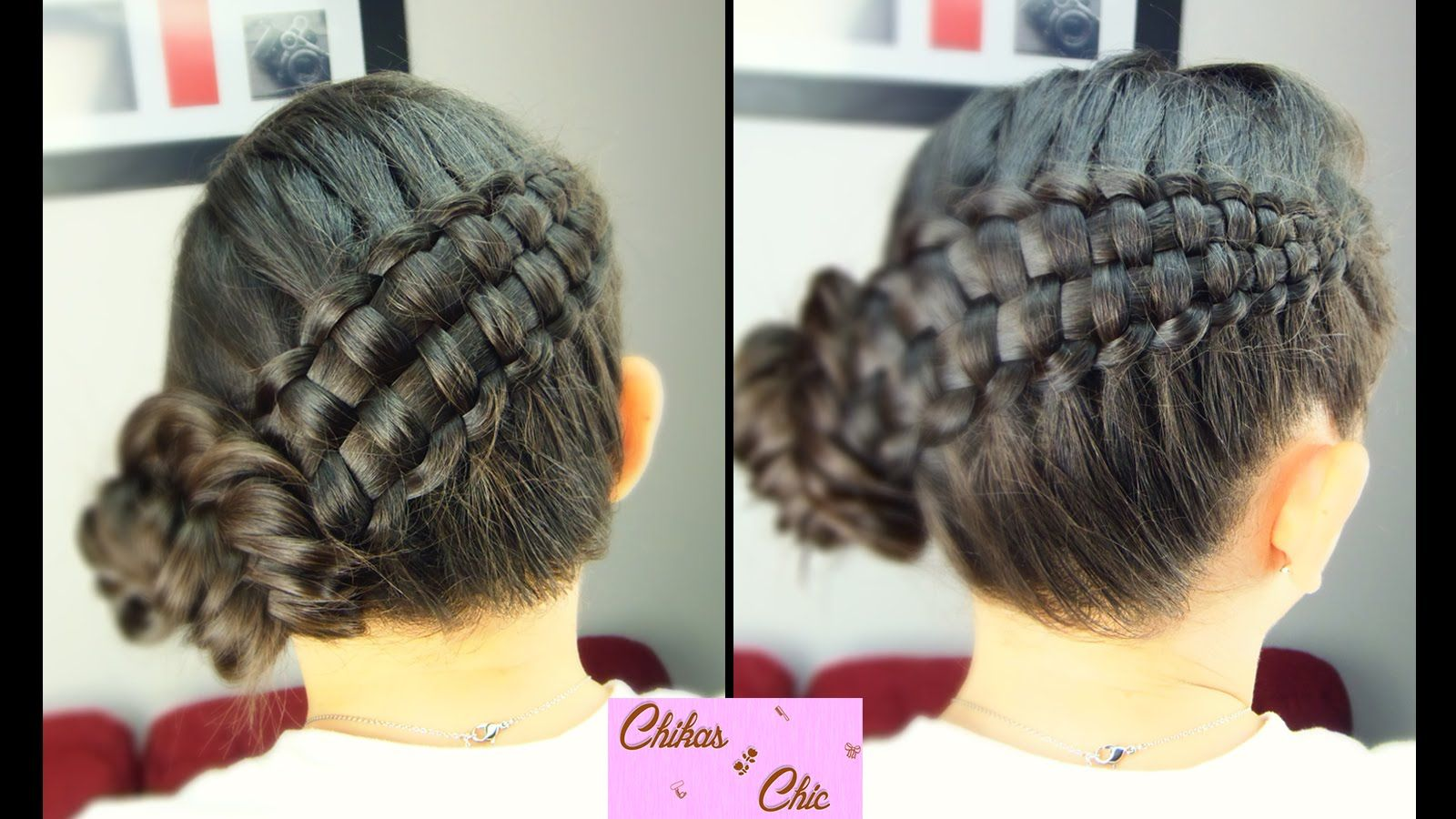 Double braid updo zipper braid updo braided hairstyles cute