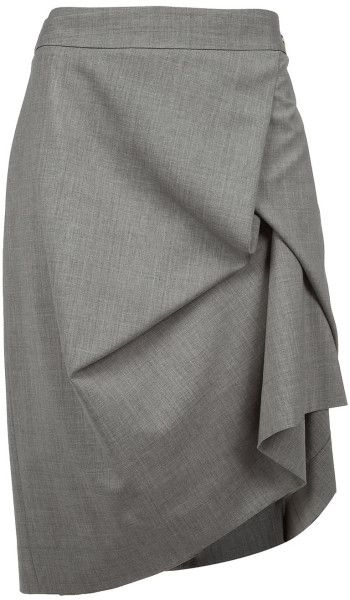 44818919e8 Vivienne Westwood Red Label grey draped wool blend pencil skirt ...