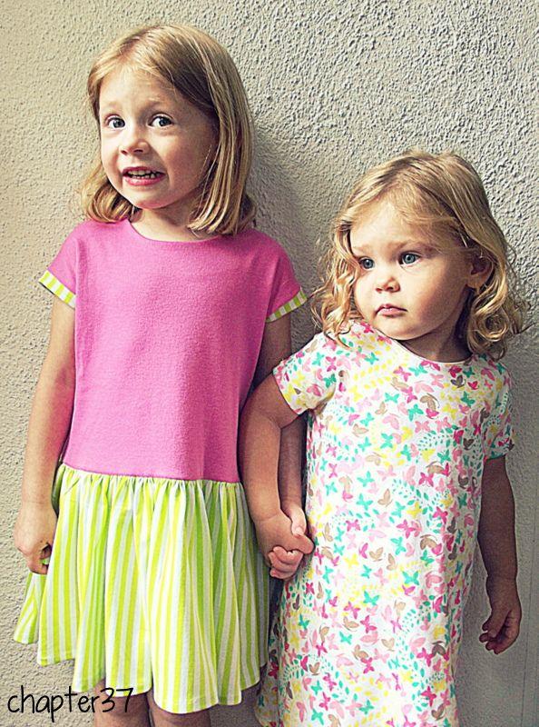 sew a girl's shift dress blog.chapterthirtyseven.com
