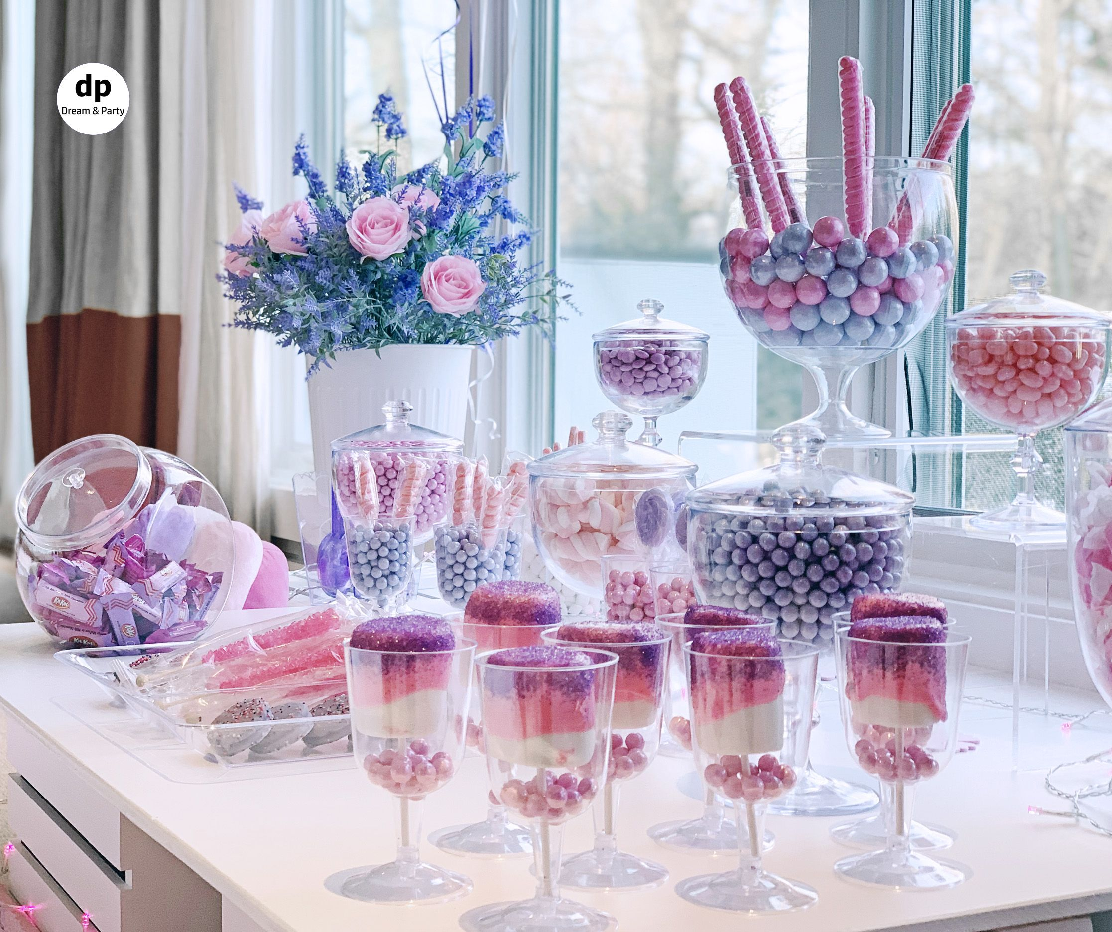 Pink Candy Buffet Candy Table Candy Table Birthday Candy Table Candy Buffet Set