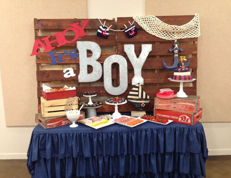 Nautical Baby Shower Ahoy Its A Boy In 2019 Kendras Shower