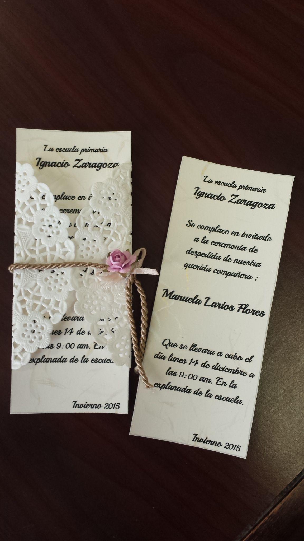 Invitación Para Ceremonia De Jubilación Docente Fiestas De