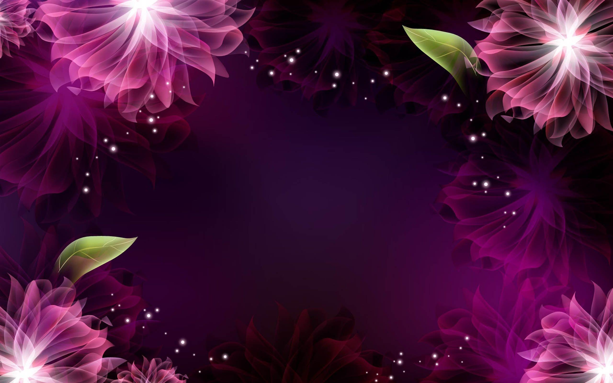 Abstract Purple Flower Flower Desktop Wallpaper Purple Flowers