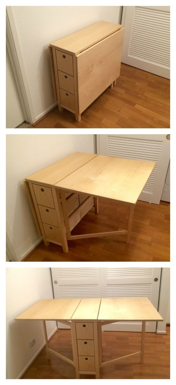 Folding table diy projects pinterest minimalisme for Minimalisme rangement