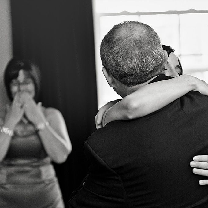 Father's first look. Jeff Cooke Photography.