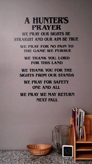 22 x 26 hunters prayer vinyl decal by countrystarhomedecor 40 00
