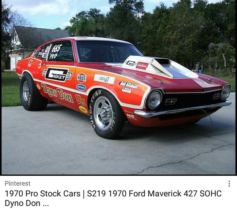 Ford maverick by My Info on Nhra Ford racing, Drag
