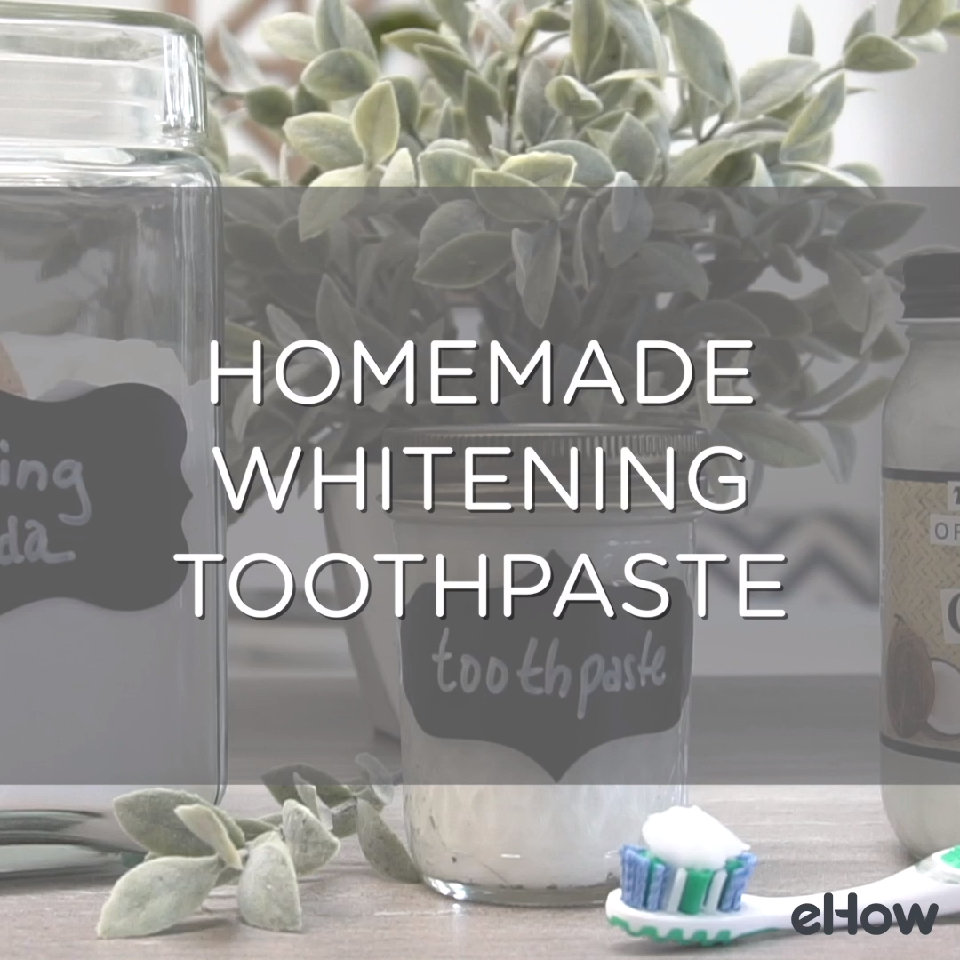 How to Make Natural Whitening Mint Toothpaste #howtowhitenyourteeth