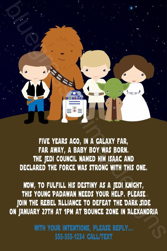 Célèbre Star Wars Printable Birthday Party Invitation DIY | Party  ZN85