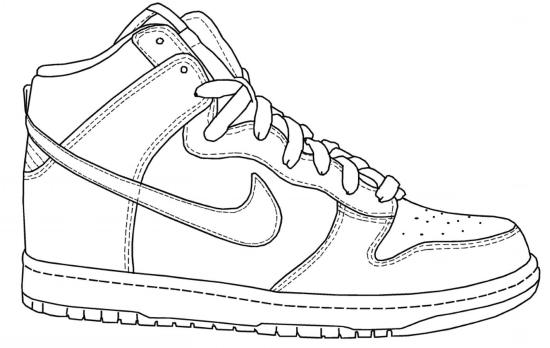Coloring Sheets Nike Shoes