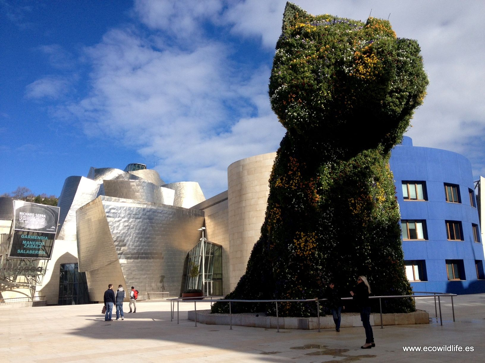 "The Puppy a more popular ""flower-dog"" in Bilbao and Guggenheim museum"