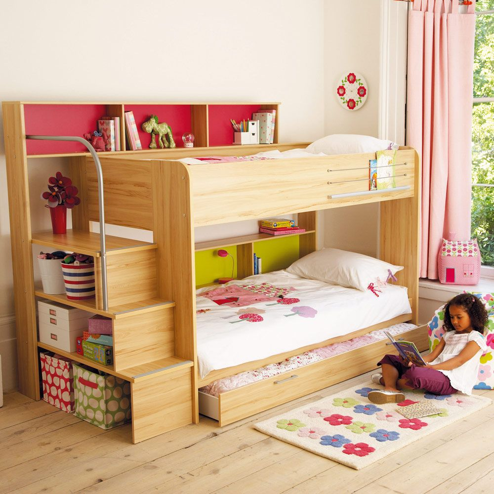 Harbour Natural Storage Bunk Bed  Bunks  Cabin Beds