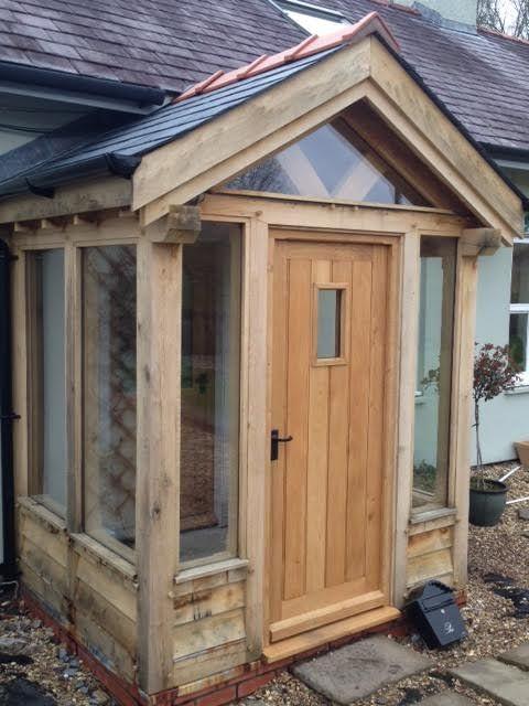 oak porch all around the door en 2018 pinterest veranda maison et porche. Black Bedroom Furniture Sets. Home Design Ideas