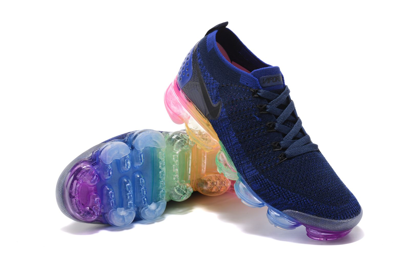 huge selection of 8e6d6 402ca custom womens nike air vapormax flyknit 2 run sneakers blue color athletic  shoes