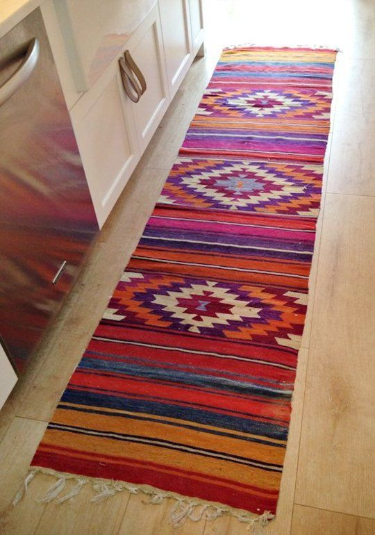 Look We Love Colorful Runners In The Kitchen Southwestern Decorating Kitchen Runner Decor