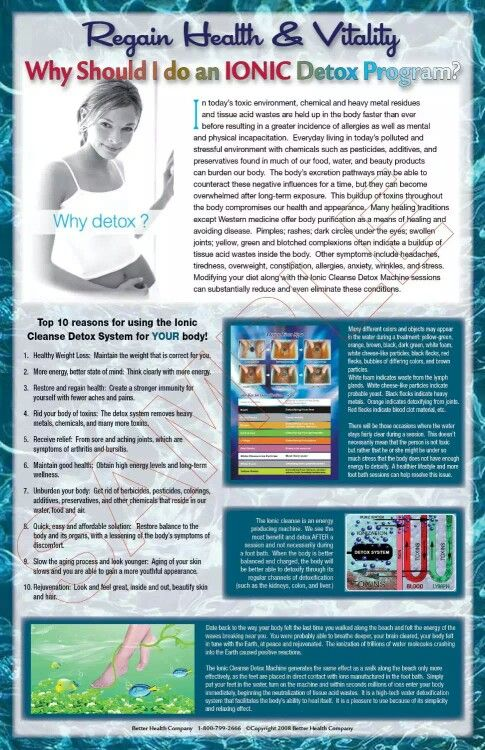 Ionic Foot Detox Chart With Images Ionic Foot Detox Ionic