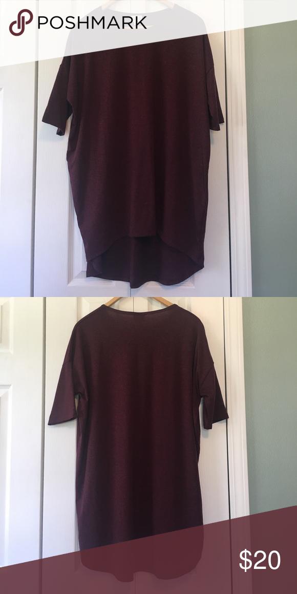 LulaRoe S Irma New never worn. Small burgundy Irma. LuLaRoe Tops Tunics