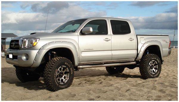 Bushwacker Pocket Style Fender Flares Fleetside 60 3 Inch Adds Up To 1 75 In Of Tire Coverage From Debris Bush Fender Flares Tacoma Accessories Bushwacker