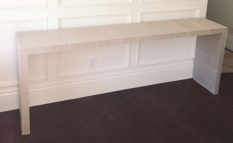 White Gold Ikea Hack Malm Table To Grasscloth Console Dressing