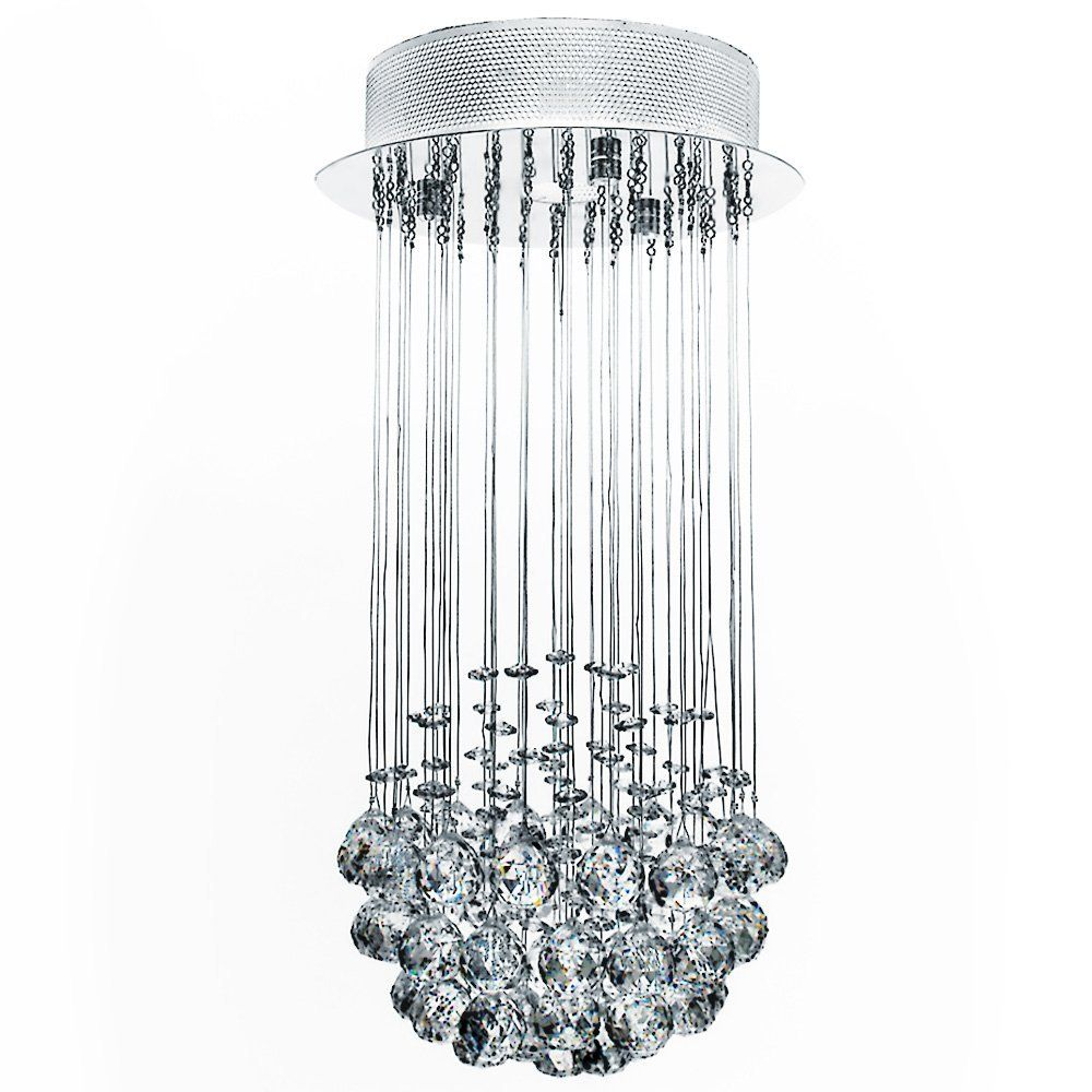 Jago Lustre Plafonnier Dekl09 Lampe En Cristal Design élégant Hauteur 50 Cm Diamètre 25 Cm Amazon Crystal Ceiling Light Ceiling Lights Chandelier