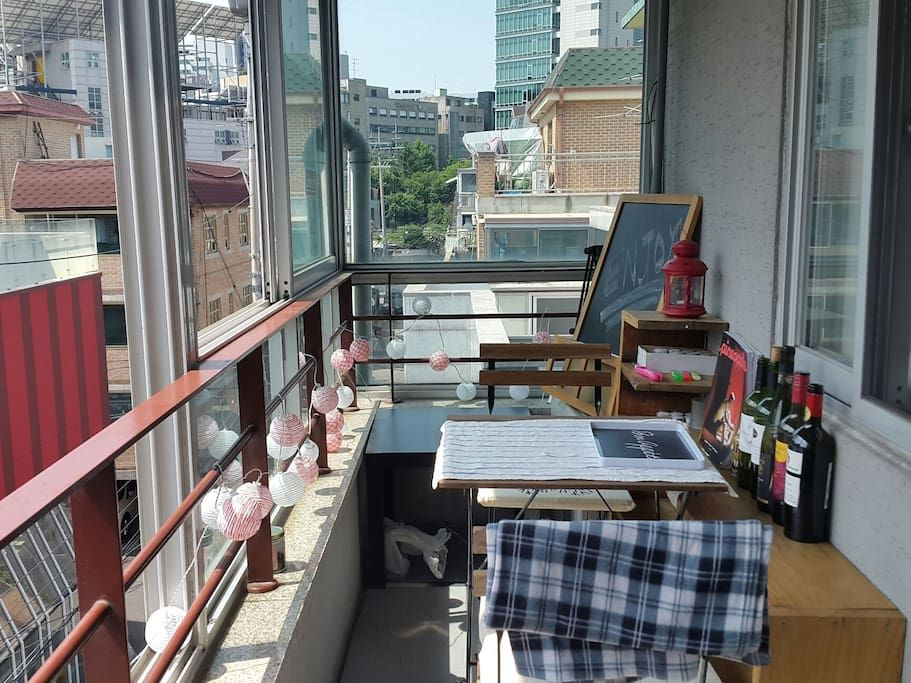Open☆ nice terrace house in hongdae apartments for rent in mapogu seoul south korea