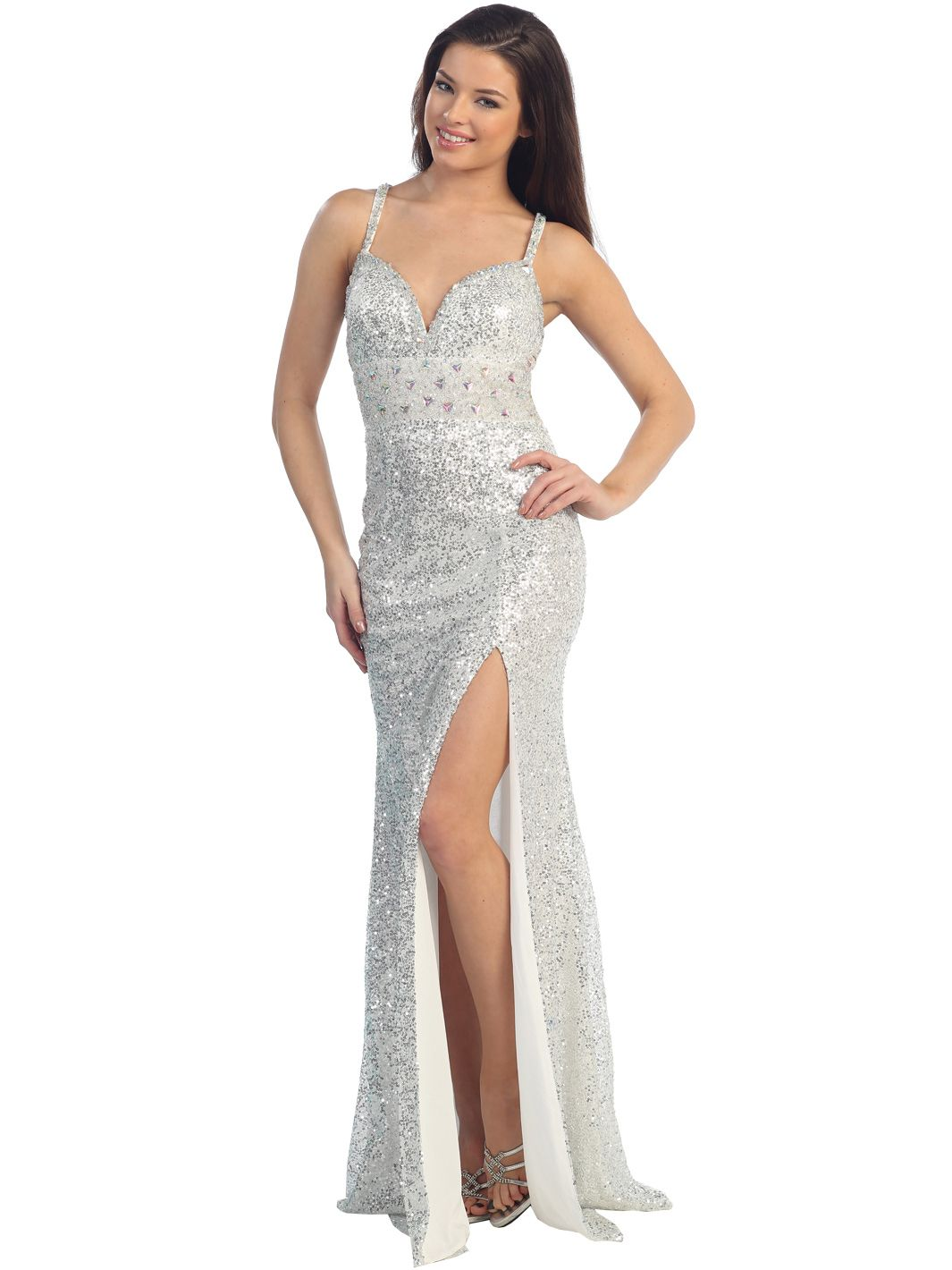Collection White And Silver Dresses Pictures - Reikian