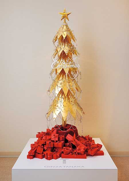 most expensive christmas trees ever made 5. Ginza Tanaka Jewelery Shop - Tabletop Tree