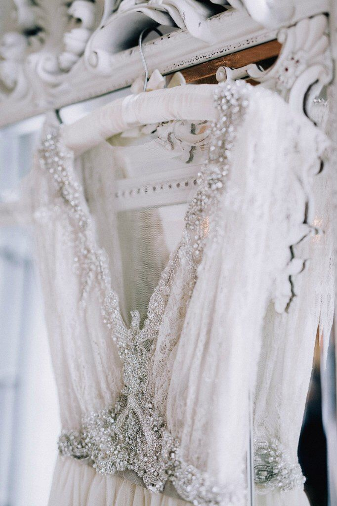 Dazzling vintage inspired classic white wedding dress with ...