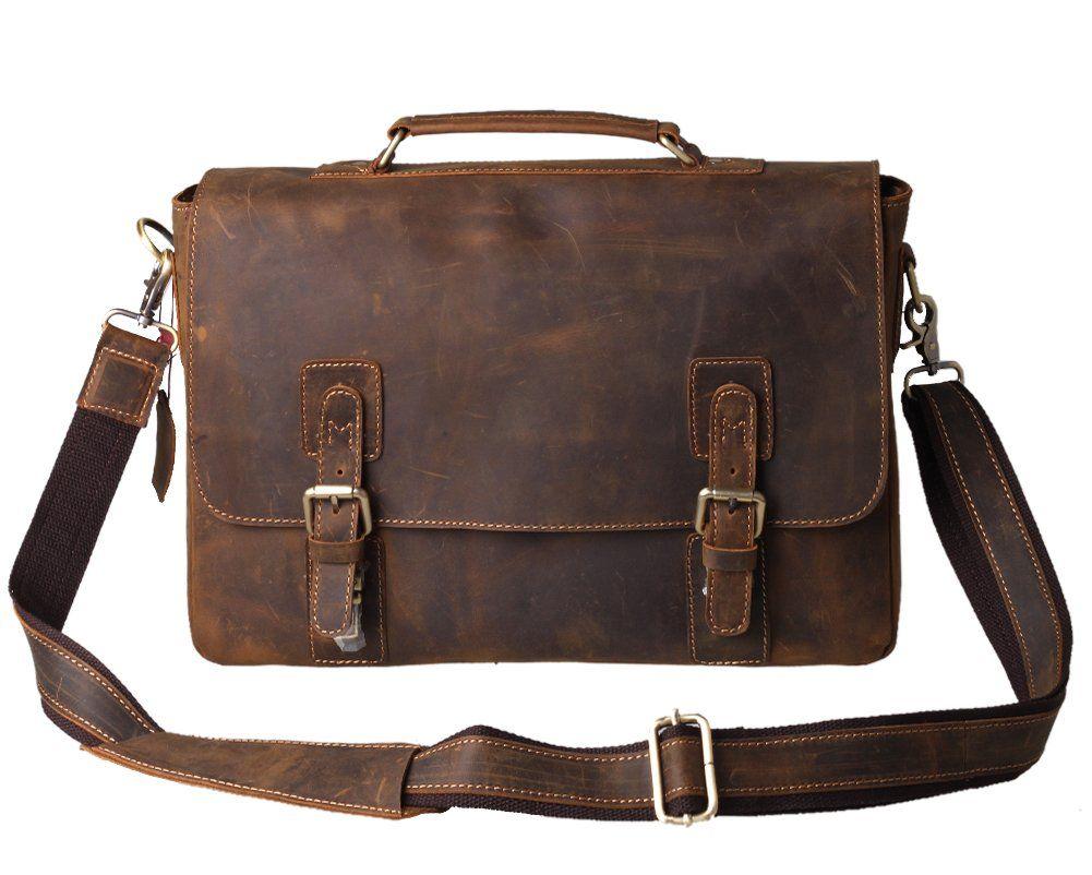 Amazon Com Mens Leather Briefcases