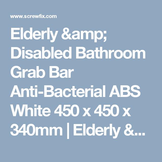 Elderly & Disabled Bathroom Grab Bar Anti-Bacterial ABS