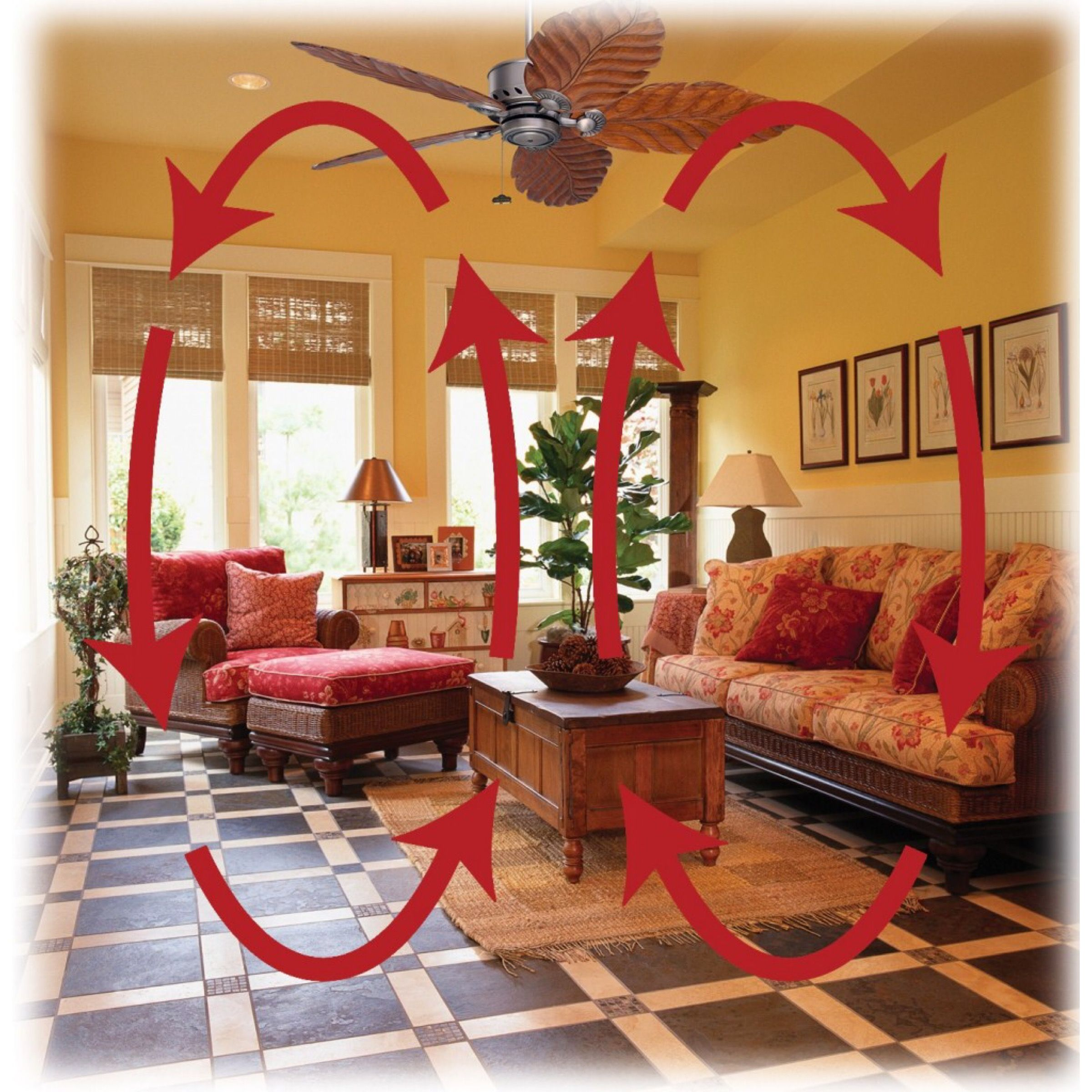 Latham Family Tip Reverse The Blade Rotation On A Ceiling